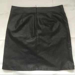 LOFT Skirts - Loft vegan leather black mini skirt